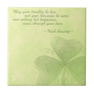 Irish blessing tile