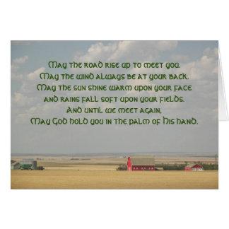 Irish Blessing Wheat Fields Photo Card