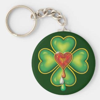 IRISH BLOOD * IRISH HEART KEY RING