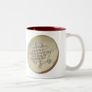 Irish Bodhran - Irish Step Dance Two-Tone Coffee Mug