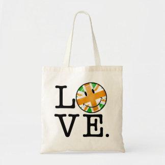 Irish British Flag Love Budget Tote Bag