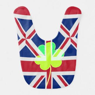 Irish British Flag Shamrock Clover St. Patrick UK Bib