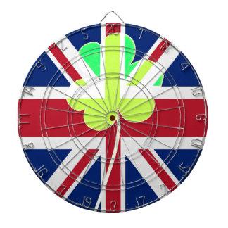 Irish British Flag Shamrock Clover St. Patrick UK Dartboard