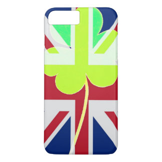 Irish British Flag Shamrock Clover St. Patrick UK iPhone 8 Plus/7 Plus Case