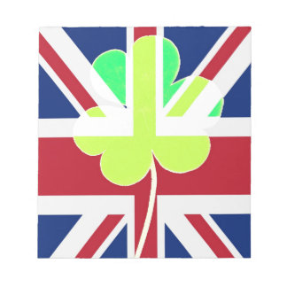 Irish British Flag Shamrock Clover St. Patrick UK Notepad