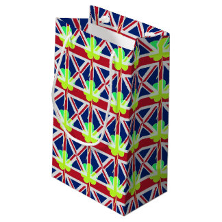 Irish British Flag Shamrock Clover St. Patrick UK Small Gift Bag