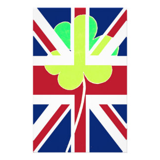 Irish British Flag Shamrock Clover St. Patrick UK Stationery