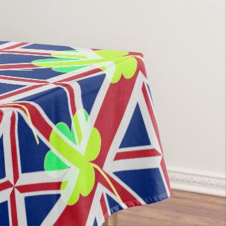 Irish British Flag Shamrock Clover St. Patrick UK Tablecloth
