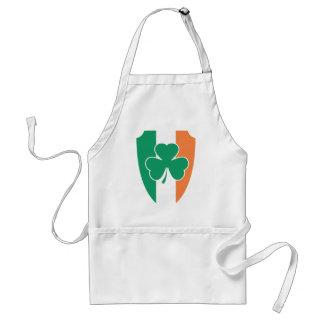 Irish Buckler Shamrock Adult Apron