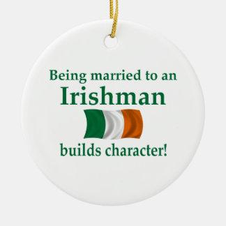 Irish Builds Character Ceramic Ornament