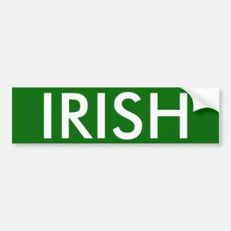 IRISH BUMPER STICKER