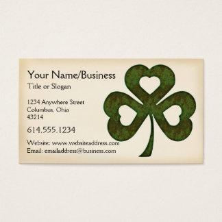 Irish Business Card :: Three Hearted Shamrock D1