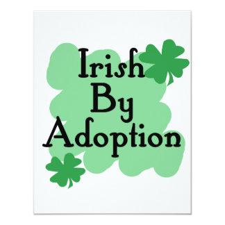 Irish by adoption 11 cm x 14 cm invitation card