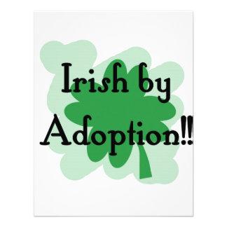 Irish by adoption custom announcement