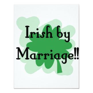 Irish by marriage invite