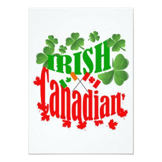 Irish Canadian 13 Cm X 18 Cm Invitation Card