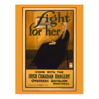 Irish Canadian Rangers, after Whistler's Mother Postcard