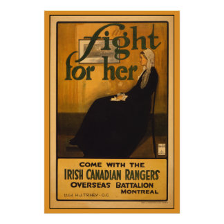 Irish Canadian Rangers, after Whistler's Mother Poster