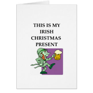 irish card