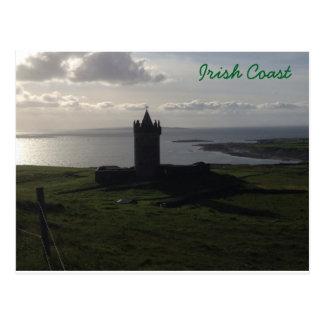Irish Castle On The Coast Postcard