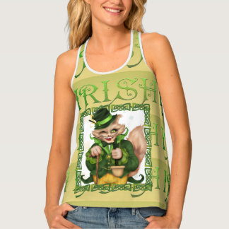 IRISH CAT All Over Print Racerback TankTop 2 Singlet