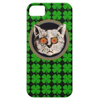 irish cat - leaf clover iPhone 5 cases