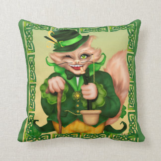IRISH CAT ST-PAT'S THROW PILLOW 16 X 16