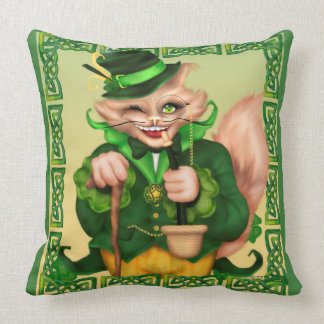 IRISH CAT ST-PAT'S THROW PILLOW 20 X 20