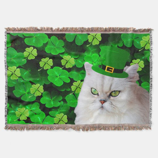 Irish Cat Throw Blanket