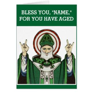 Irish Catholic birthday Card
