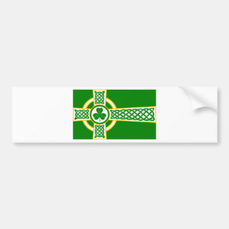 Irish_Celtic_Cross Bumper Sticker