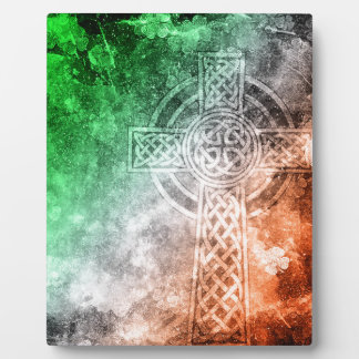 Irish Celtic Cross Plaque
