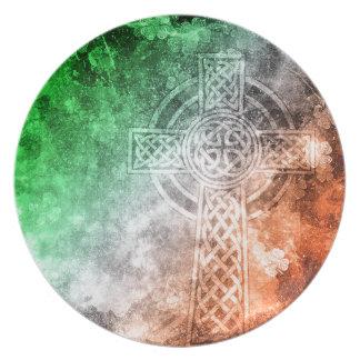 Irish Celtic Cross Plate
