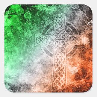 Irish Celtic Cross Square Sticker