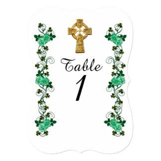 Irish Celtic Cross table number card
