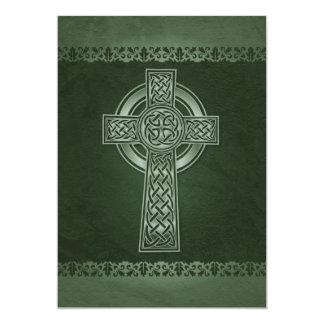 Irish Celtic Cross Wedding Invitations