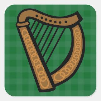 Irish Celtic Harp Saint Patricks Day/ Everyday Square Sticker