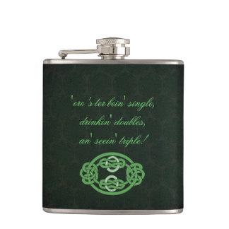 Irish Celtic Knot Flask