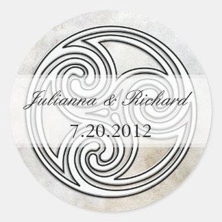 Irish Celtic Knot Invitation Seals