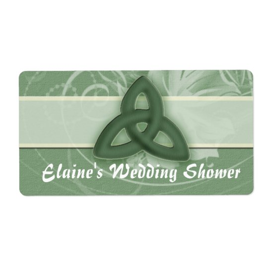 Irish Celtic Knot Label for wedding shower