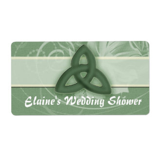 Irish Celtic Knot Label for wedding shower Shipping Label