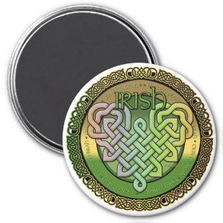 Irish Celtic knots - St Patrick's day 7.5 Cm Round Magnet