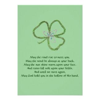 Irish Celtic Shamrock Knot Invite