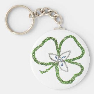 Irish Celtic Shamrock Knot Key Ring