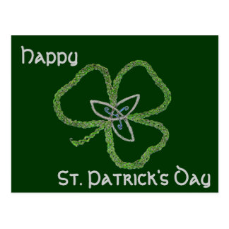 Irish Celtic Shamrock Knot Post Cards