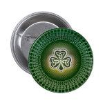 Irish celtic shamrocks badges buttons