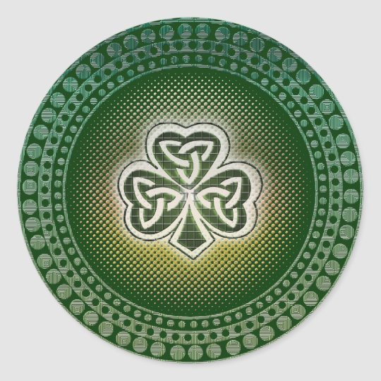 Irish celtic shamrocks stickers