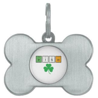 Irish chemcial elements Zc71n Pet Tag