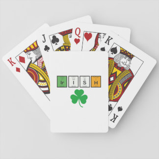 Irish chemcial elements Zc71n Playing Cards