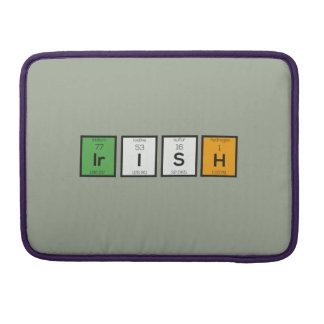 Irish chemcial elements Zy4ra MacBook Pro Sleeve